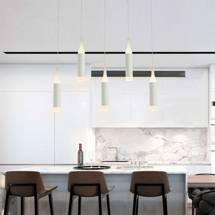 Pipe Rocklight LED Kitchen Island Pendant Lighting