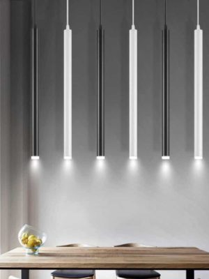 Long Rocklight Tube Kitchen Island LED Pendant Lighting
