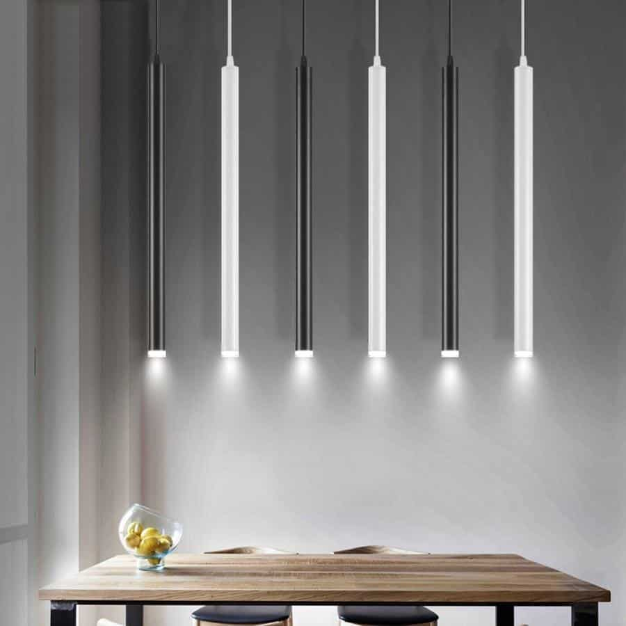 Long Rocklight Tube Kitchen Island LED Pendant Lighting unique and elegant Pendant lighting