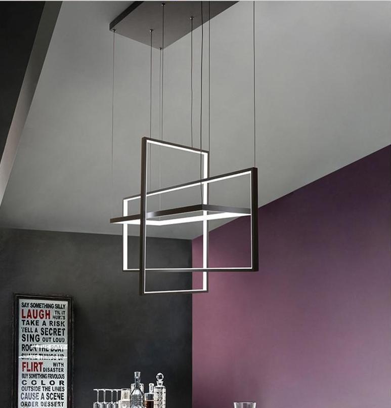 Cozy Cube 3Z LED Chandelier