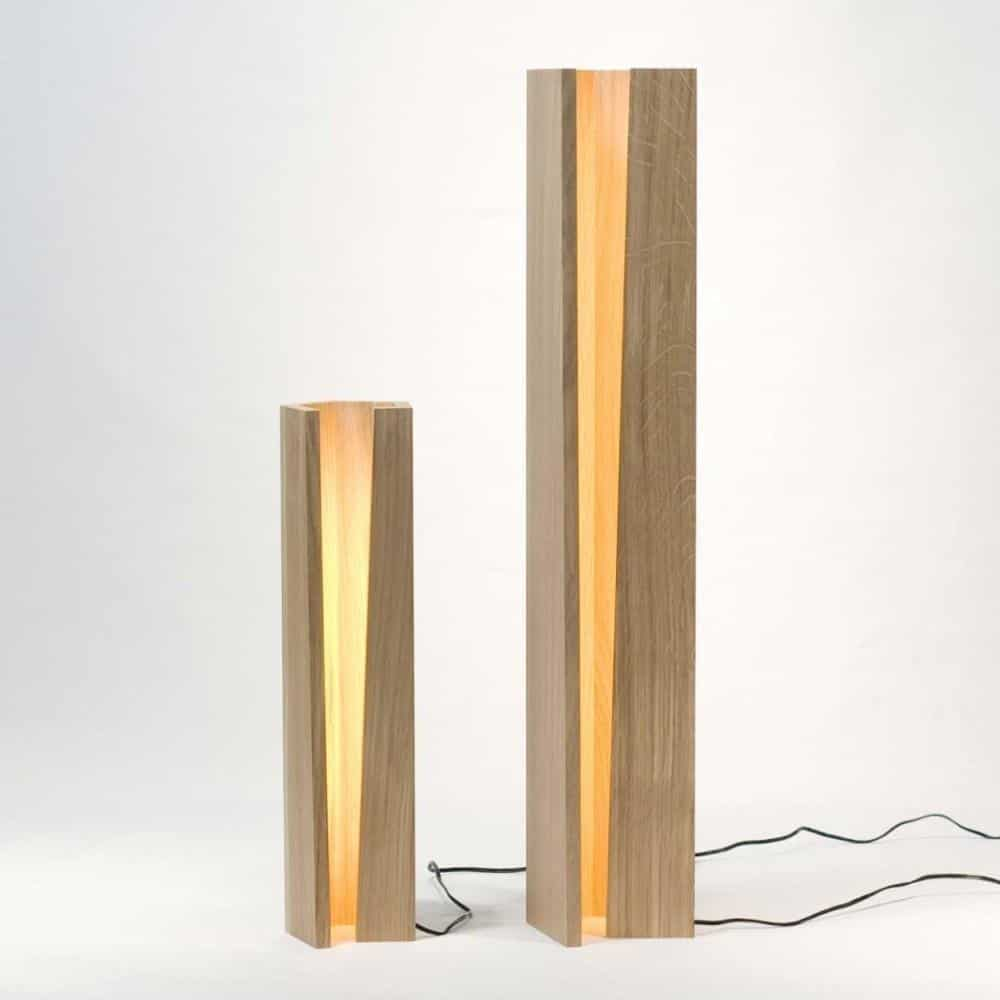 Sha Kimoto Wood Base Floor/Table lamp LED