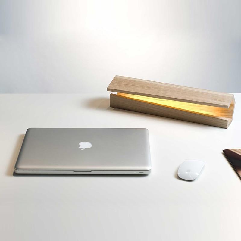 Sha Kimoto Wood Base Floor/Table lamp LED Floor/Table Lamp