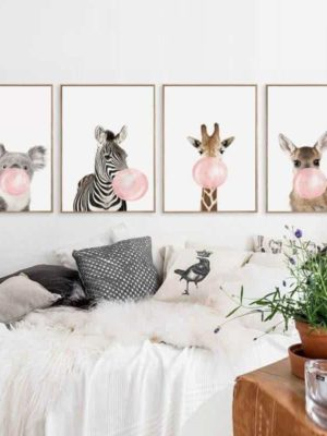 Happy Animals – Say Cheese | Unframed Canvas Art