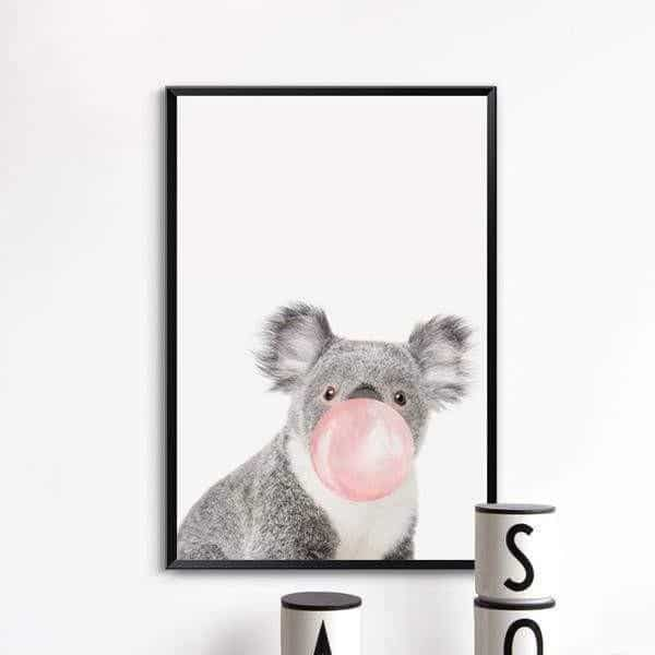 Happy Animals - Say Cheese Canvas print - Wall Art Koala / 60x80cm