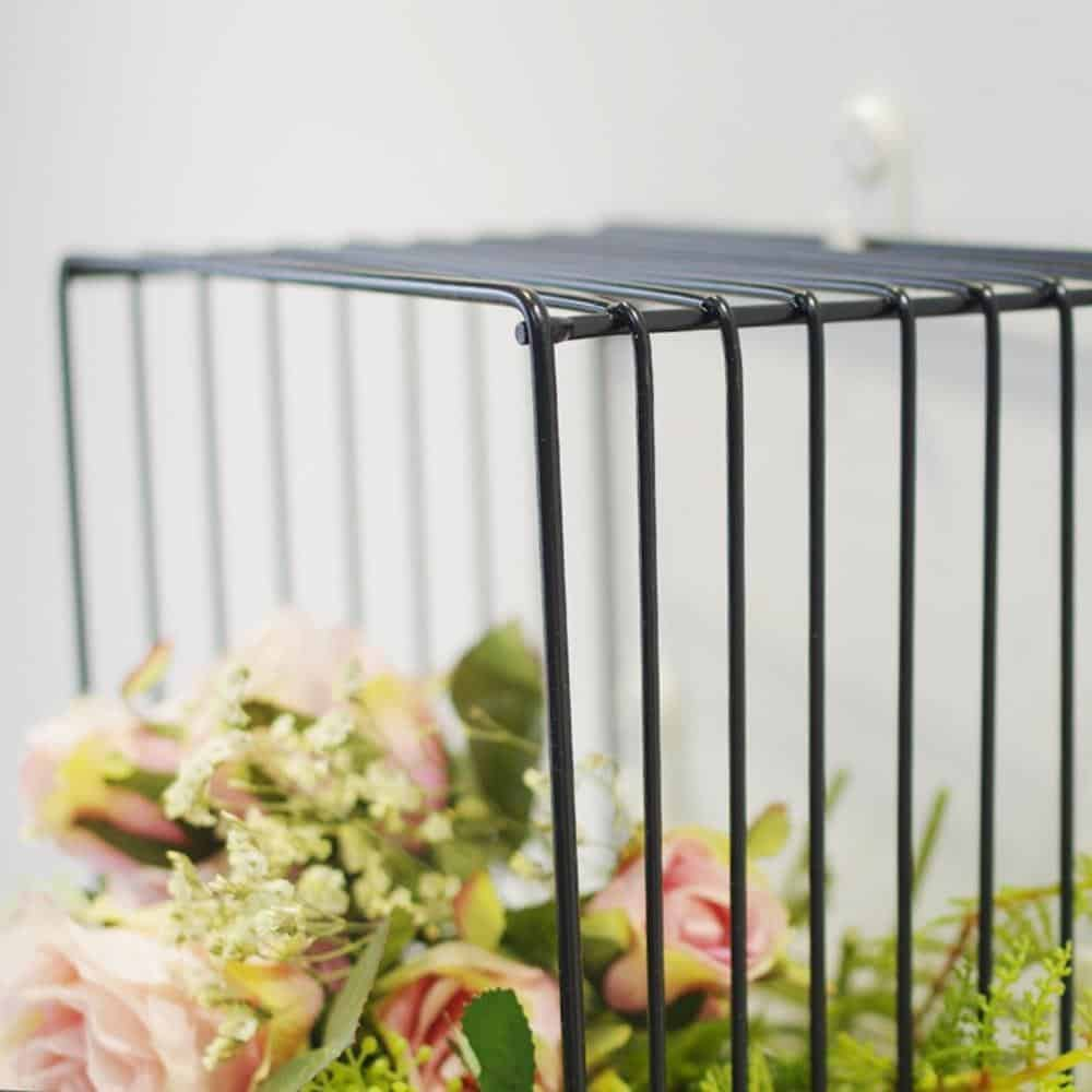 Simple Cube Shelf | Black Square Metal Wire Shelf