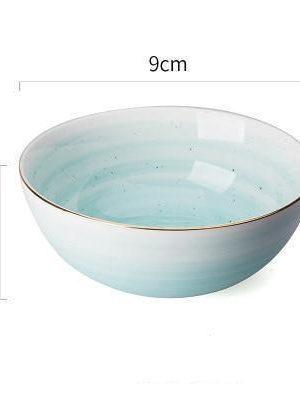 Fabienne Smooth 4pcs/set Gold Rim Ceramic