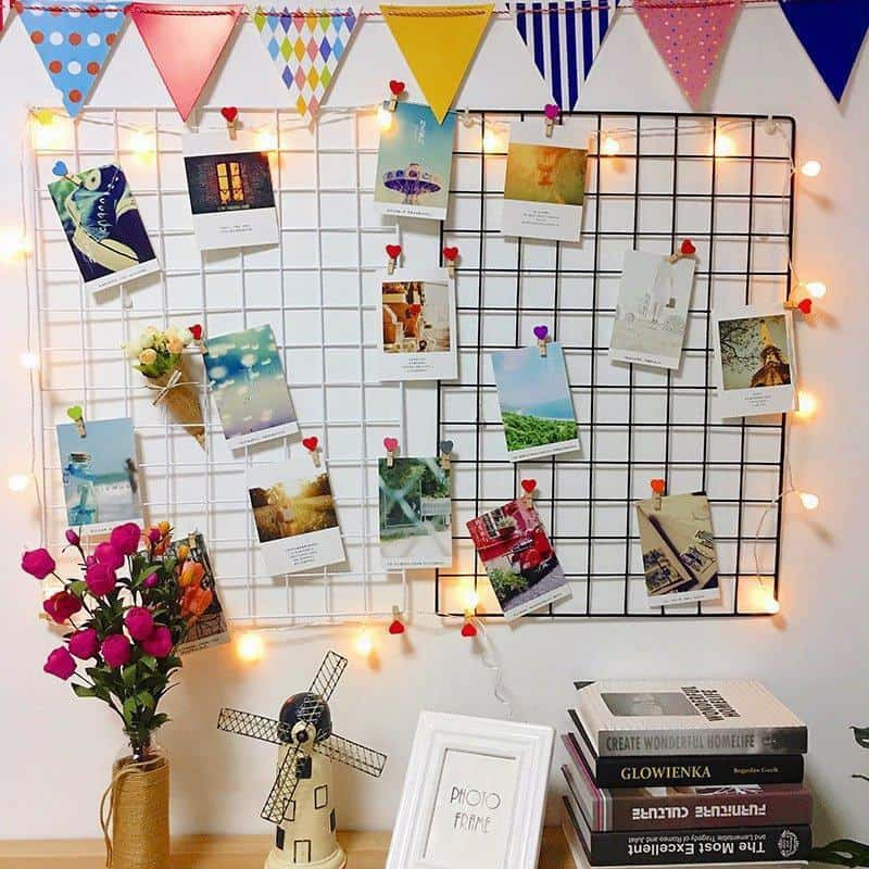 Clean Frame | Metal Photo Wire Grid | Wall Wire Grid | Panel Shelf
