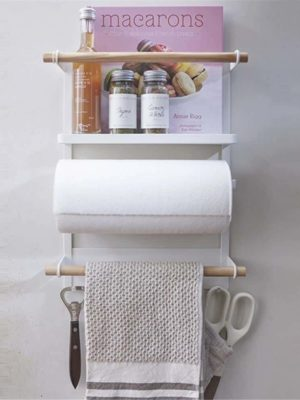 CLEAN O2 | Magnetic Fridge Kitchen Rack | Kitchen Organizer and Tissue Holder