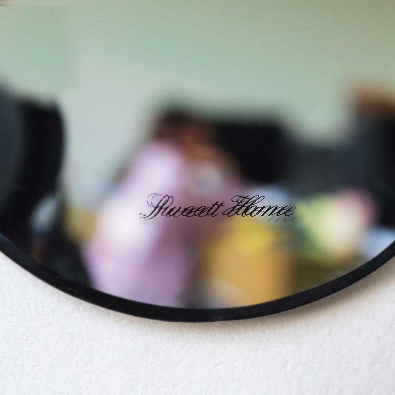 Titanno by Sandra Bjorkman Black Mirror/Hanging Chain Mirror