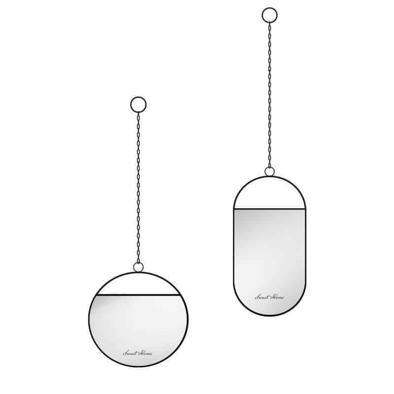 Titanno by Sandra Bjorkman Black Mirror/Hanging Chain