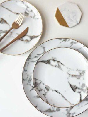 Rebecca Marble Plate 2pcs/set