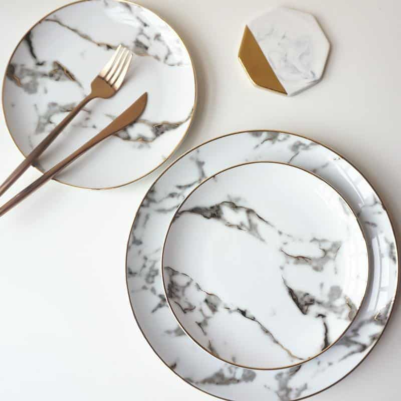 Rebecca Marble Plate 2pcs/set Plates