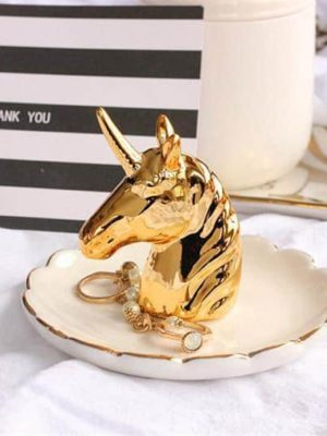 Flora Baker Unicorn Gold Organizer/Ring Holder