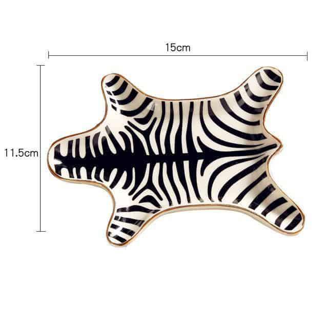 Gorgeousiela Gortwinkle Plate/Decorative Tray Tray Black Tiger
