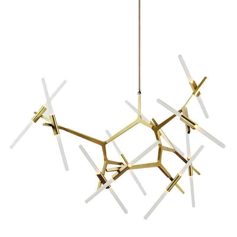 Rotterdam Pipe Glass/Metal Pendant Light