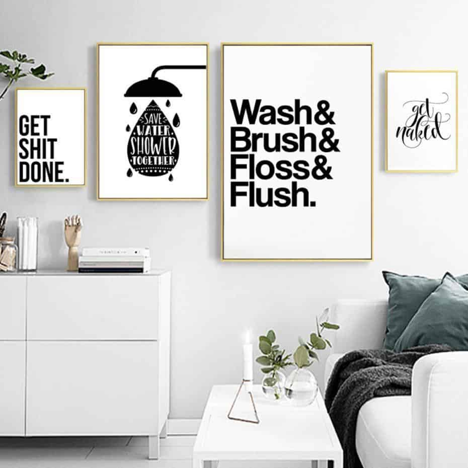 Wash Brush Flush Inspirational Quotes | Unframed Canvas Art