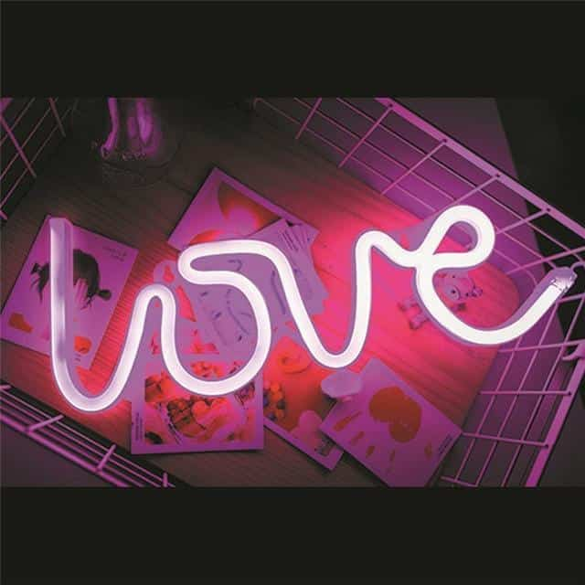 Superstar Sweet Home Neon Wall/Desk Lamp Table/Wall lamp Love - pink