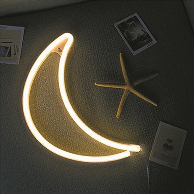 Superstar Sweet Home Neon Wall/Desk Lamp Table/Wall lamp Part of the moon