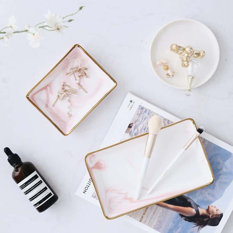 Angebianco Rose Marble Tray/Serving unique and elegant Tray