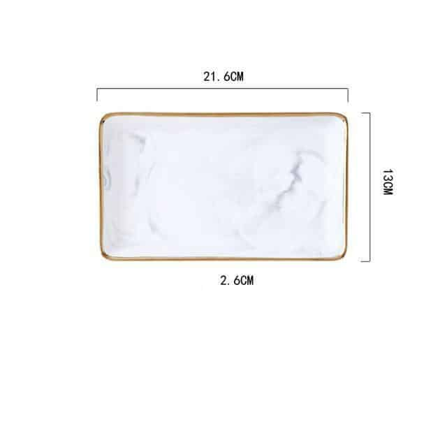 Angebianco Rose Marble Tray/Serving