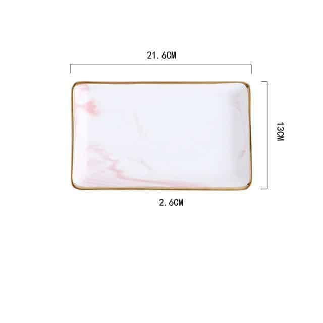 Angebianco Rose Marble Tray/Serving