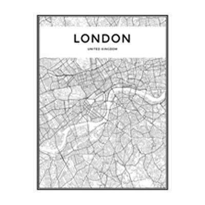 Minimalist City Map Canvas print - Wall Art 60x90 cm / LONDON