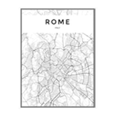 Minimalist City Map | Maps of Capitals | Unframed Canvas Art