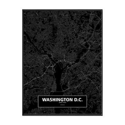 Minimalist City Map Canvas print - Wall Art 60x90 cm / WASHIONTON DC