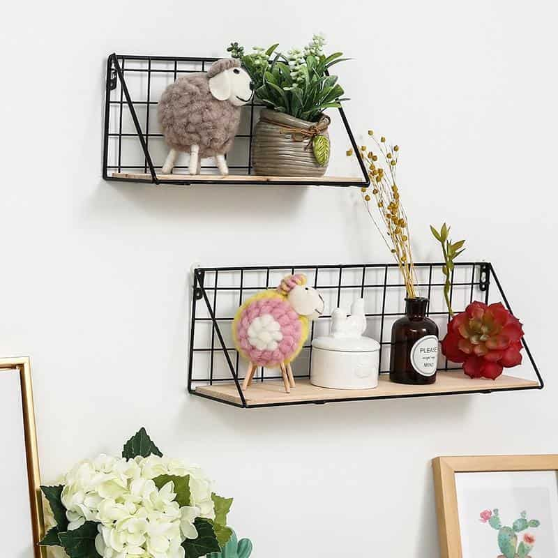 Sinclair Manhattan | Wooden Iron Shelf | Industrial Design
