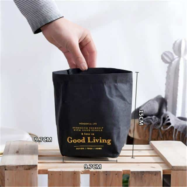 Flutterbag by Jasmine Bergmann Storage Gold/Black Storage bag L / Perfect black