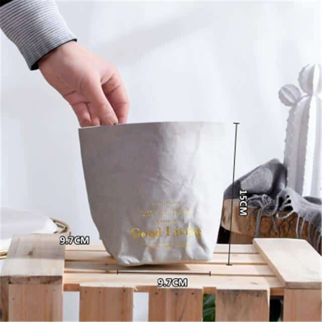 Flutterbag by Jasmine Bergmann Storage Gold/Black Storage bag L / Grand grey