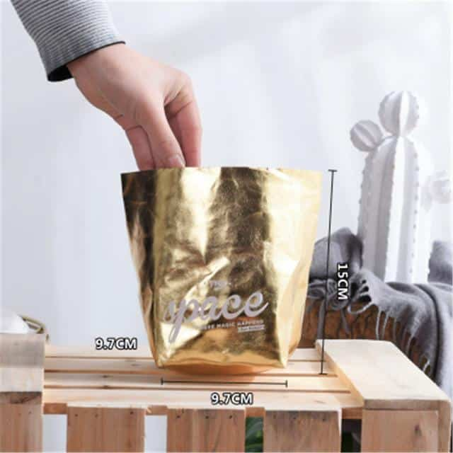 Flutterbag by Jasmine Bergmann Storage Gold/Black Storage bag L / Extravagant gold