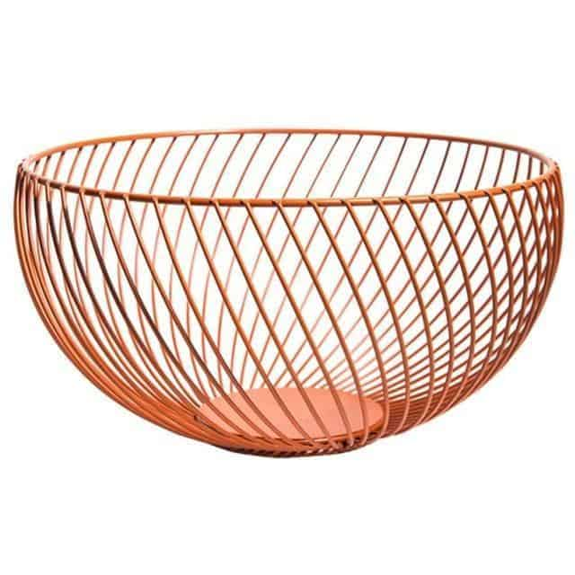 Nordic by Frederick Vaux / Wire Baskets Basket Peach