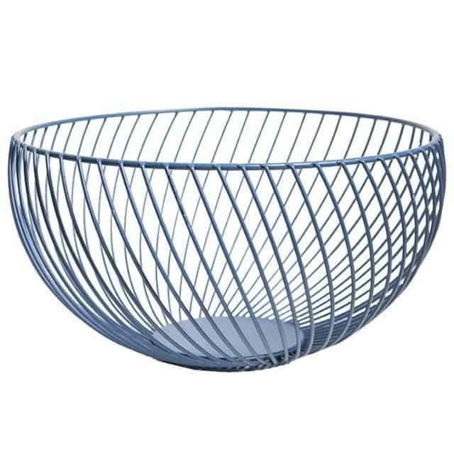 Nordic by Frederick Vaux / Wire Baskets Basket Navy blue