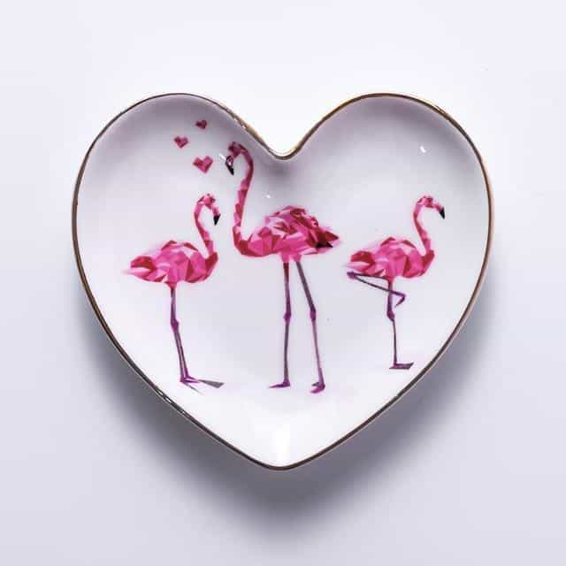 Emmelie Cactusiela Island Jewelry/Decorative Trays Decor Heart Flamingo