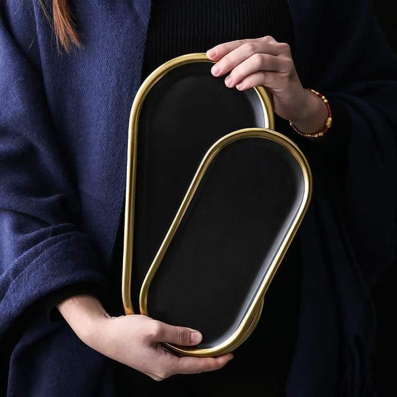 Charlotte | Black Oval Serving Plate