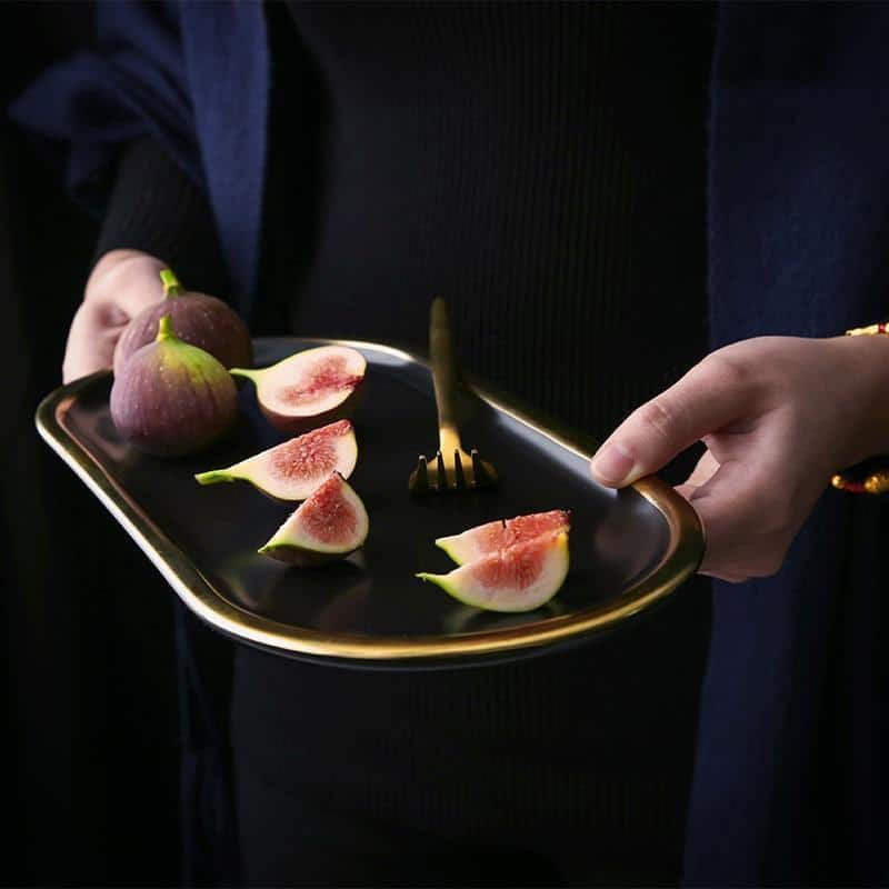 Charlotte | Black Oval Serving Plate