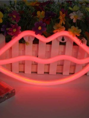 Love Red Lips Wall Table Light