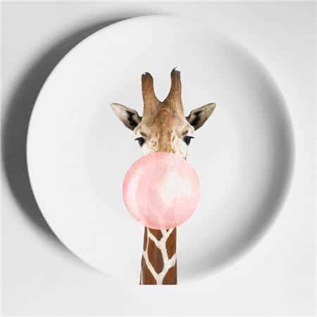 Zebra & Giraffe Plate | Dinnerware Set