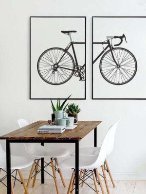 Beatrice Vintage Bike | 2pcs Set | Unframed Canvas Art