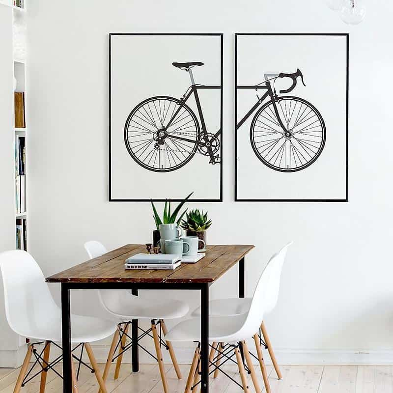 Beatrice Vintage Bike | 2pcs Set | Unframed Canvas Art unique and elegant Canvas print - Wall Art