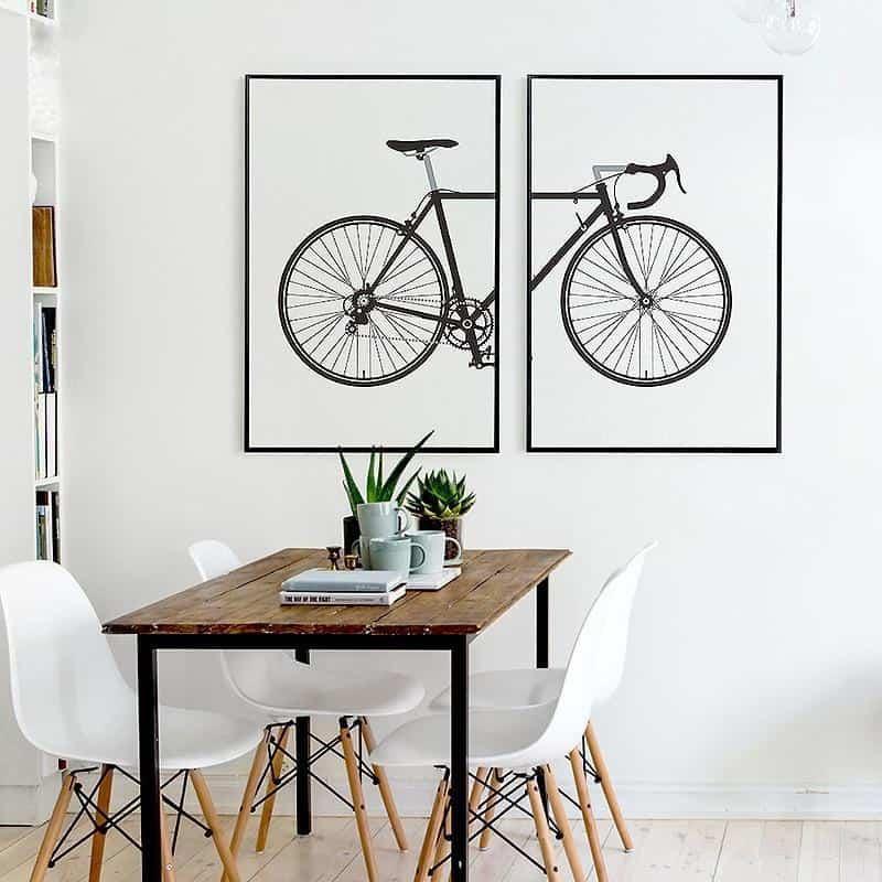 Beatrice Vintage Bike | 2pcs Set | Unframed Canvas Art unique and elegant Canvas print - Wall Art