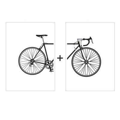 Beatrice Vintage Bike | 2pcs Set | Unframed Canvas Art unique and elegant Canvas print - Wall Art Rear and Front / 60x80 cm