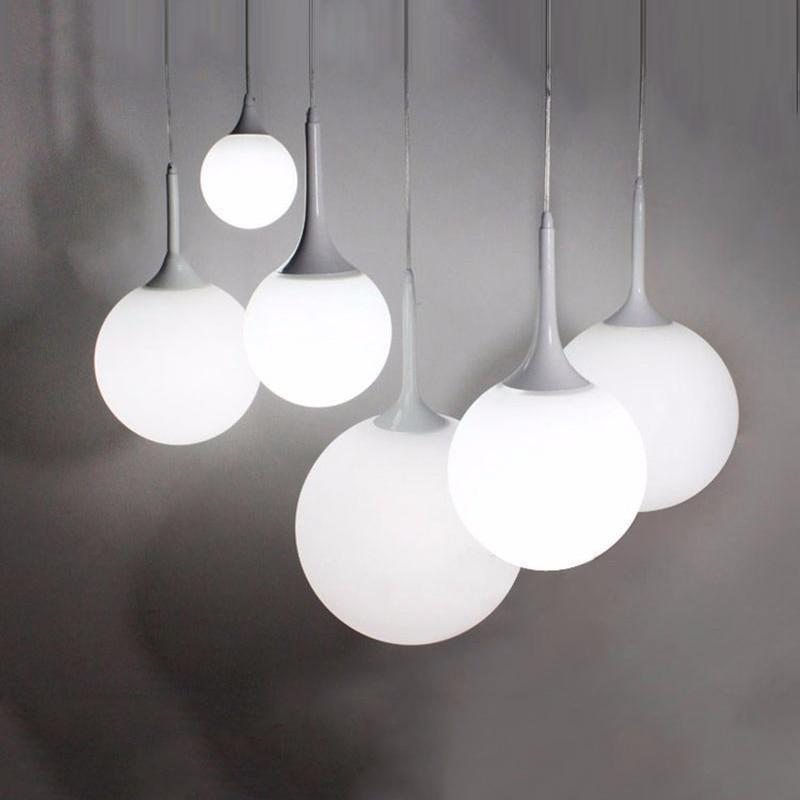 Whitelight Glass Globe Pendant Light
