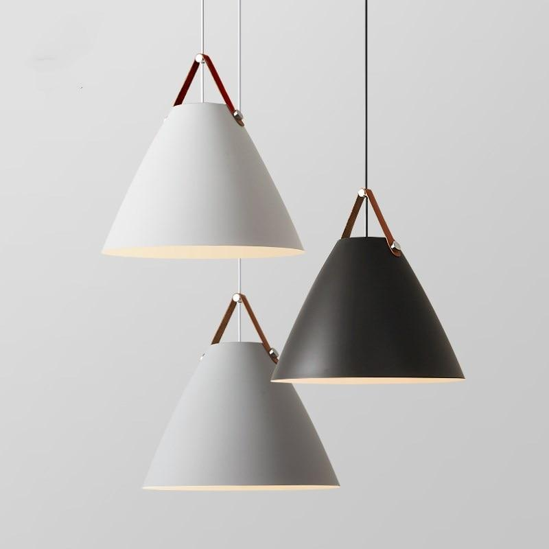 Lanterna Strap Nordic Style   Pendant Light Pendant light Gray / Ø48cm