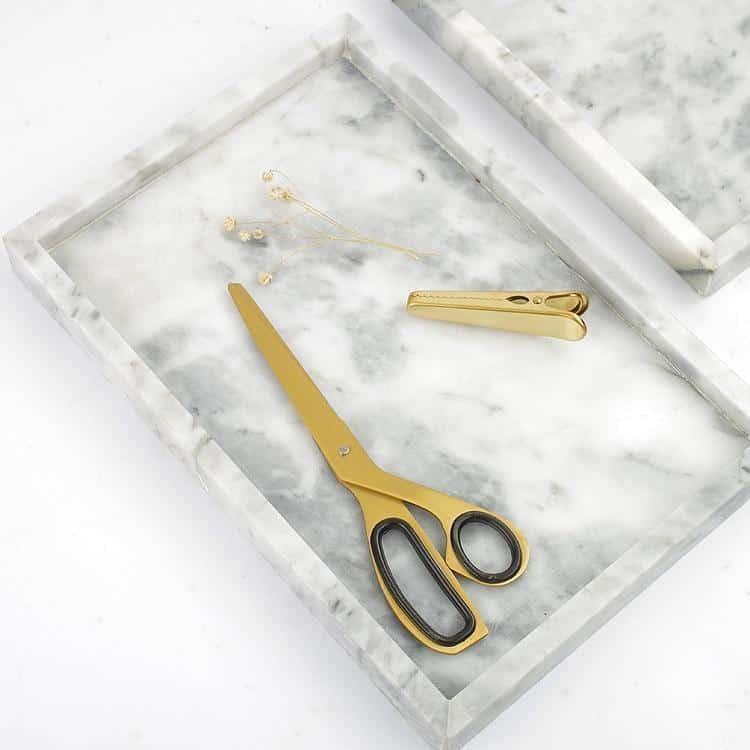 Angebianco Bianco Carrarra White Marble Tray/Serving Plate