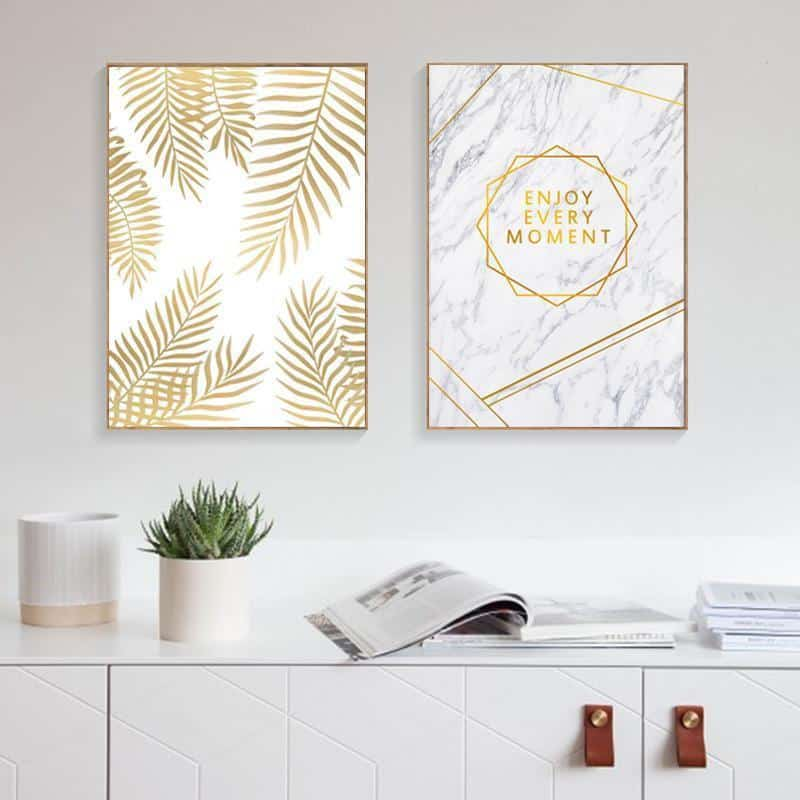 Fabulous Gold Marble | Unframed Canvas Art