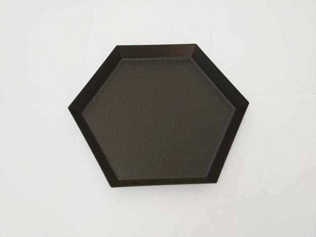 Polygon Decorative Tray Aluminium