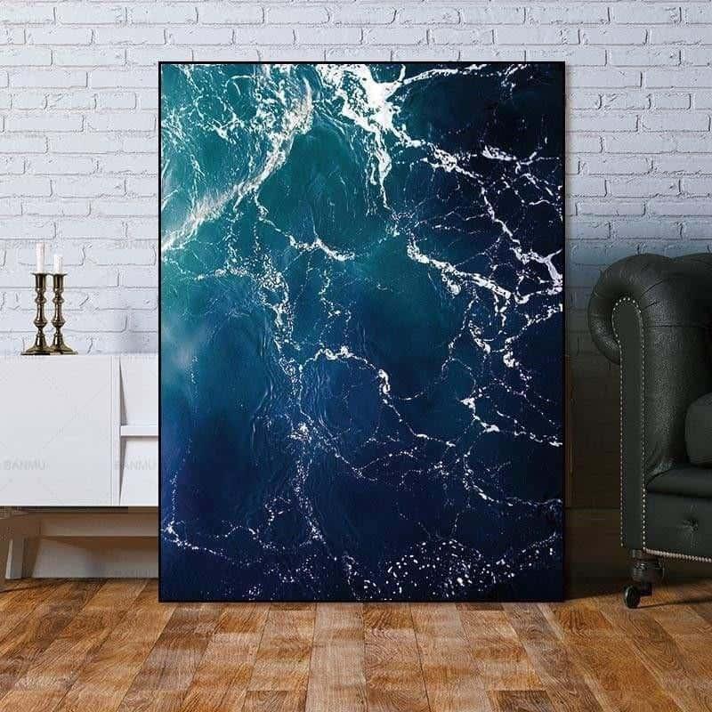 Fabulous Marble Sea | Zenk | Unframed Canvas Art