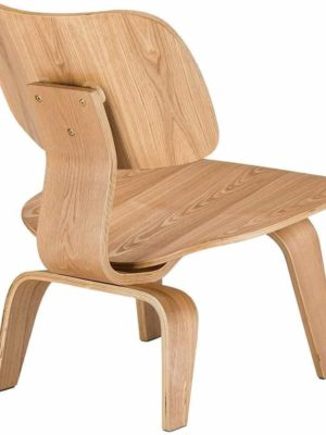 Marc Kandel Mid Century Molded Plywood Lounge Chair / Natural